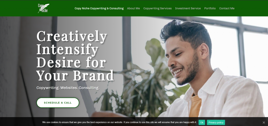 Copy Niche Copywriting and Consulting Banner